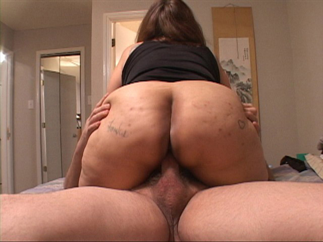 Short chubby girl with huge ass